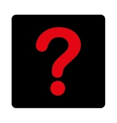 Question flat intensive red and black colors vector