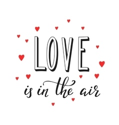 Romantic love lettering vector