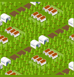 Rural isometric natural vector