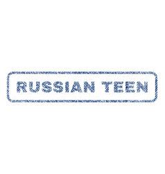 Russian teen textile stamp vector