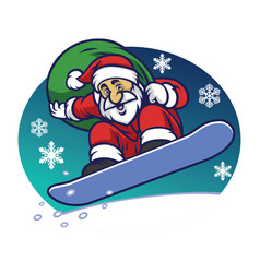santa claus delivering the christmas gift by vector image