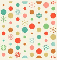 Seamless pattern circle and snowflakes vector