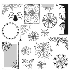 Set of decorative elements for Halloween vector