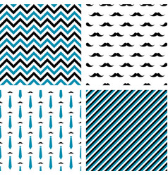 set of seamless male patterns vector image
