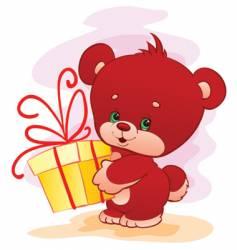 small bear vector image