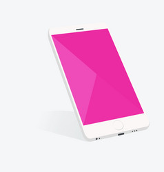 smartphone with material design screen setting vector image