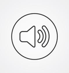 Sound outline symbol dark on white background logo vector