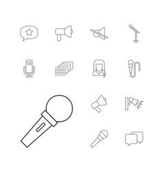 Speak icons vector