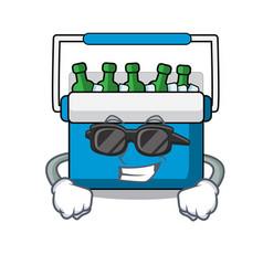 Super cool freezer bag character cartoon vector