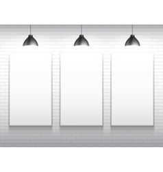 Three Blank White Poster Templates vector image
