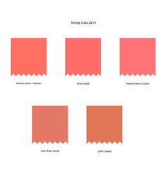 Trendy color scheme by plain color patches vector