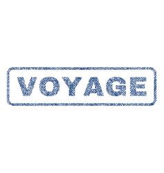 Voyage textile stamp vector
