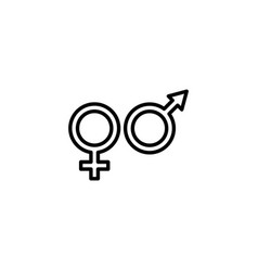 web line icon gender symbol symbols vector image
