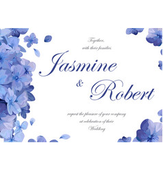 Wedding invitation flower invite card design with vector