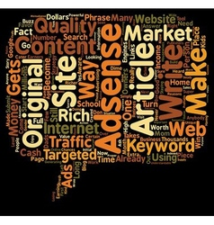 Who Else Wants To Make Money With Adsense text vector image