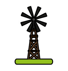 Windmill rural icon image vector