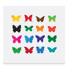 butterfly icons vector image