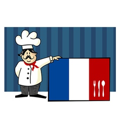 Chef of french cuisine vector image