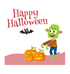 Happy halloween greeting card poster banner vector