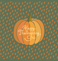 happy thanksgiving greeting card vector image