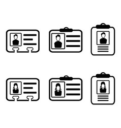id card icons vector image vector image