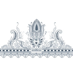 Part border paisley style vector image vector image