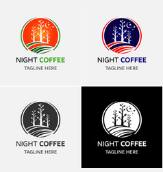 tea and coffee logo template vector image vector image