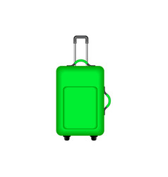 travel suitcase in green design vector image vector image