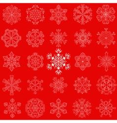 vintage snowflake set in zentangle style 25 vector image vector image