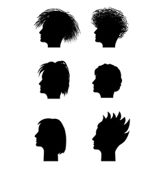 woman profile vector image vector image