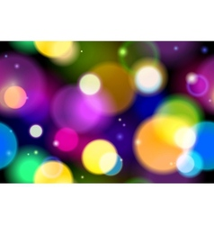 Abstract Christmas Lights background vector image