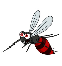Angry mosquito cartoon vector