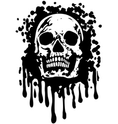 grungeSkull vector image