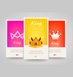 modern colorful vertical banners with crown signs vector image