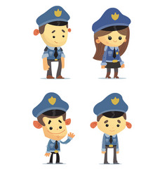 police officers vector image