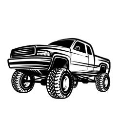 Car truck 4x4 pickup off-road vector
