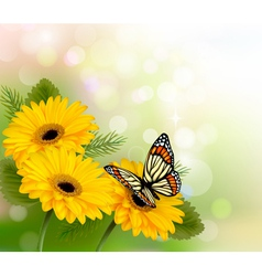 Nature flowers background vector image vector image