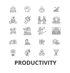 productivity efficiency increase innovation vector image
