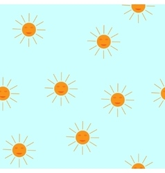 The sun seamless pattern vector image vector image