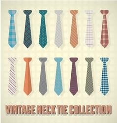 Vintage Neck Tie Collection vector image