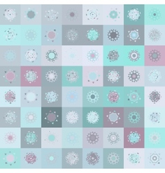 Christmas Snowflakes Pattern Background vector image
