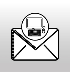 email computer concept digital online icon vector image
