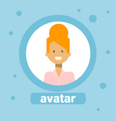 femalle profile avatar business woman icon user vector image vector image