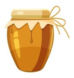 Jug with honey icon cartoon style vector image vector image