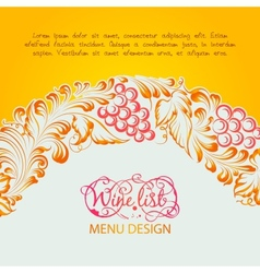 Menu design wine list vector image