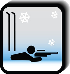 Winter icon -rifle vector image vector image