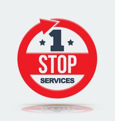 1 stop services icon vector