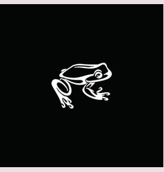 Abstract frog design vector
