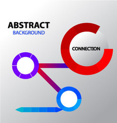 Abstract loading connection background vector