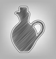 amphora sign pencil sketch vector image vector image